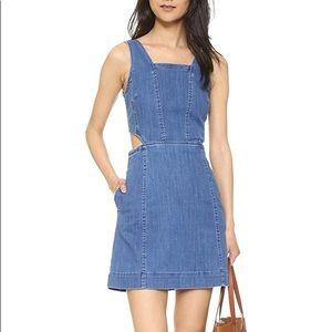 MADEWELL Denim Chambray Cutout Dress